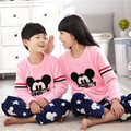Kids Gift Long Sleeve Warm Pants children's Pyjamas Flannel Pajamas Boys Pants Pajamas Kids Hoody Clothing Boys Pyjamas Cute Set
