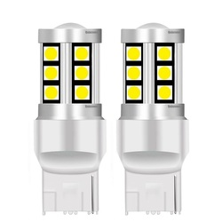 2PCS Small Size T20 7440 W21W WY21W 15 SMD 3030 LED Car Turn Signals Reserve Lamps Motor Brake Bulbs DRL Lights Red White Yellow