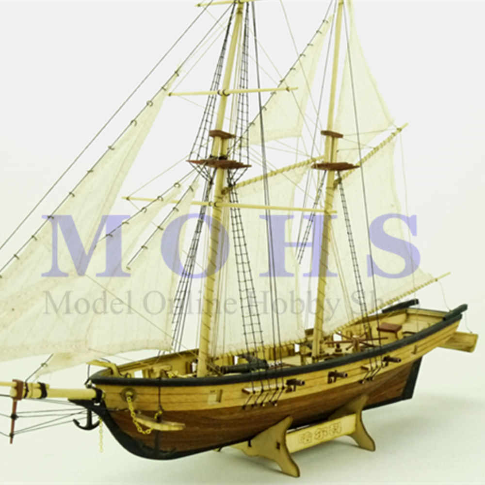 sailing Halcon COMBO assembly model kits classical wooden sailing boat model scale wooden assembly ship model building kits
