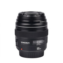 NEW Yongnuo 100mm Medium Telephoto Prime YN100mm F2 Lens for Cano* EOS Rebel Camera AF MF highpro 55mm 3 0x digital optic super high definition telephoto af lens filter black
