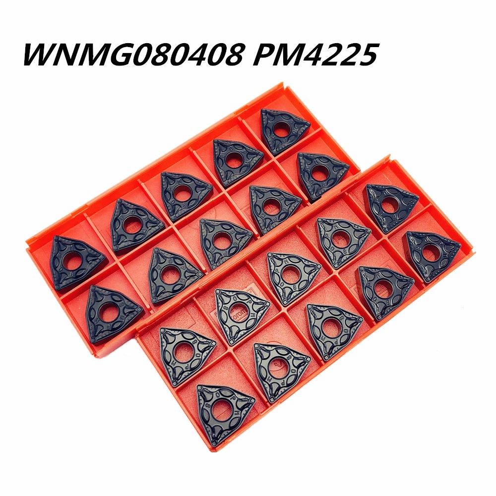 10PCS Carbide Insert WNMG080408 PM4225 High Quality Super Hard External Metal Turning Tool Milling Tools WNMG 080408 Lathe Tool