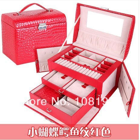 Red Jewelry Box Fashion Princess Dressing Married Birthday Gift Grown Up Gifts Womens Day