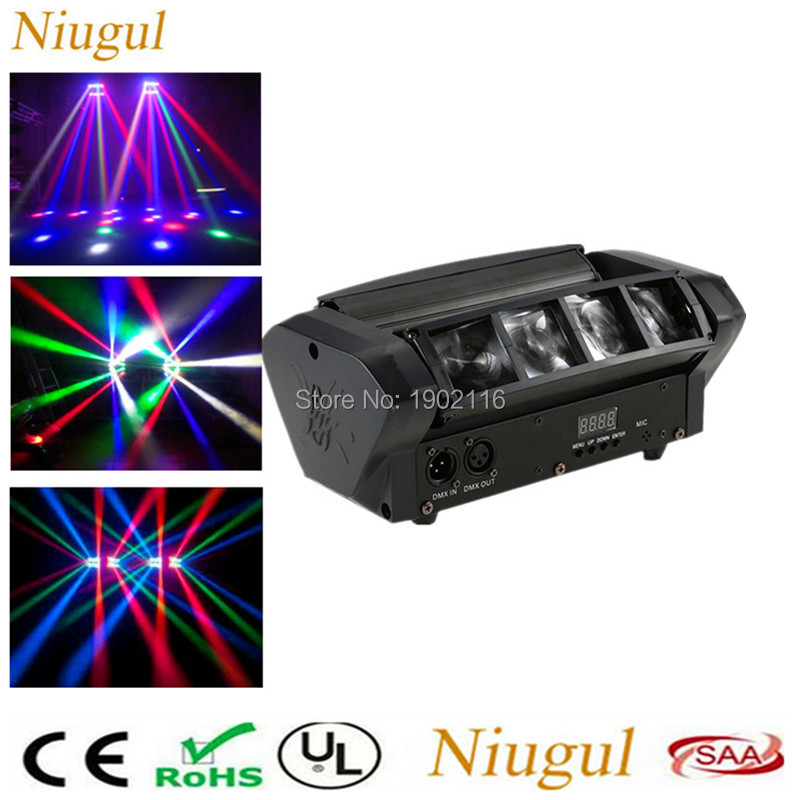 2018 H0T Mini LED Spider 8PCS leds Beam moving light/Professional DMX Stage effect Lighting/led Disco DJ lighting/wedding lights niugul super dj disco lighting 7x12w led mini wash moving head light led beam dmx stage lighting ktv club led lamp chandelier