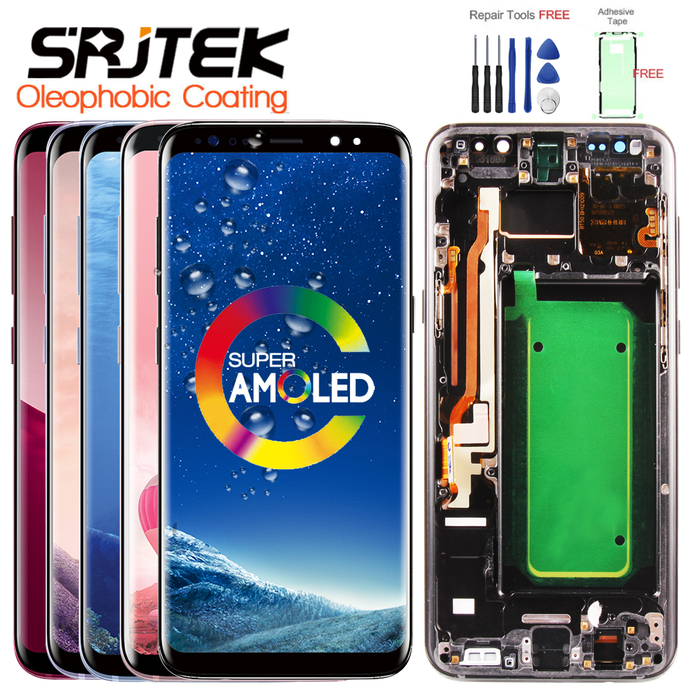 Garantie AMOLED Écran D'affichage pour SAMSUNG Galaxy S8 Remplacement LCD Tactile Digitizer Assemblée S8 Plus LCD G950 G950F G955 G955F