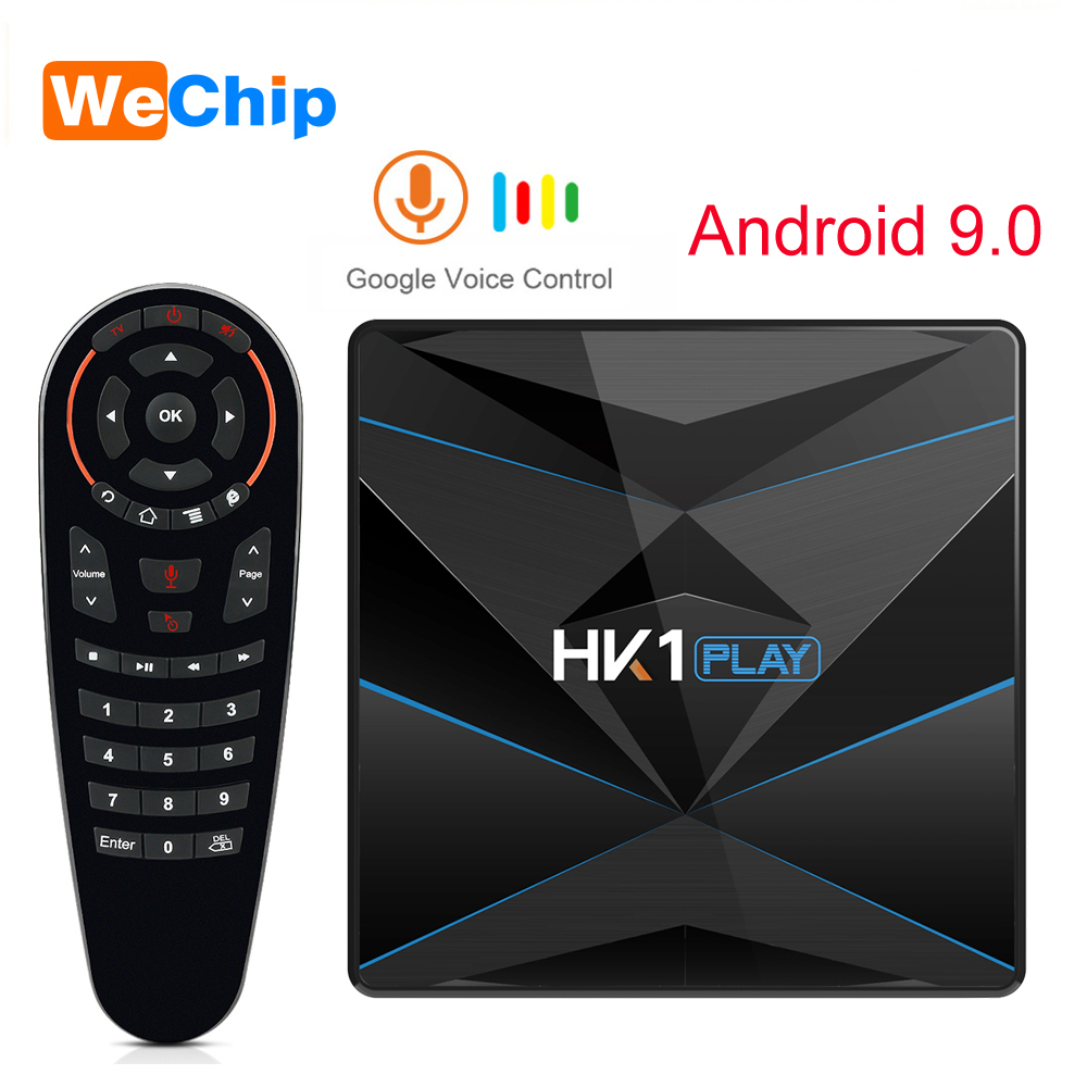 HK1 Play Android 9.0 4 GB 64 GB Smart TV Box Amlogic S905X2 Google Assistant vocal Wifi Youtube décodeur HK1 Mini décodeur