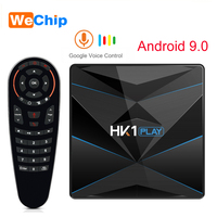 HK1 Play Android 9.0 4GB 64GB Smart TV Box Amlogic S905X2 Google Voice Assistant Wifi Youtube Set Top Box HK1 Mini Set Top Box