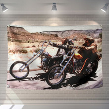 Easy Rider Poster Flag Banner Movie Cartoon Home Decoration Hanging flag 4 Gromments in Corners 3*5FT 144cm*96cm(China)