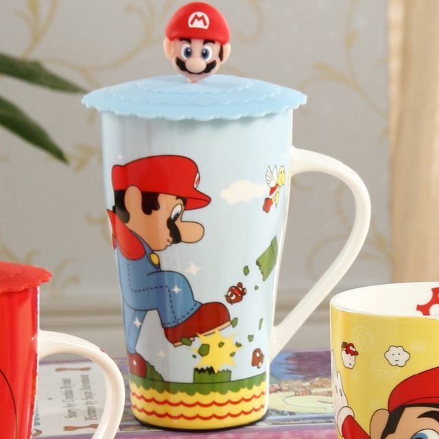 office coffee cups. Office Coffee Cups. 1pcs New Keyama Super Mario Cartoon Ceramic Breakfast Cups E