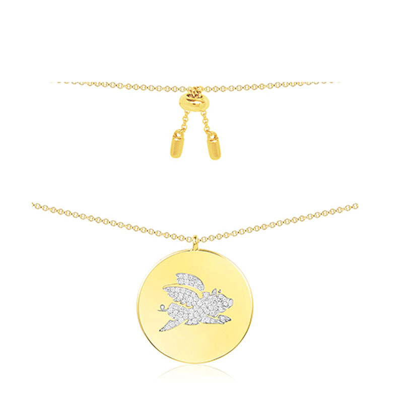 SKA Women Necklaces Sterling Silver Pendant Necklaces For Women AAA Zircon Pig Single Woman Jewelry AC3870OXY wostu 2018 luxury brand 925 sterling silver heart love pendant necklaces for women with aaa zircon jewelry gift for lover cqn025