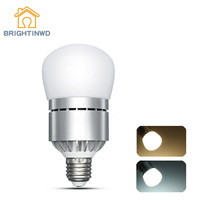 BRIGHTINWD E27 12W Dusk To Dawn LED Lamp Bulb Auto Light Sensor Energy Saver AC 85