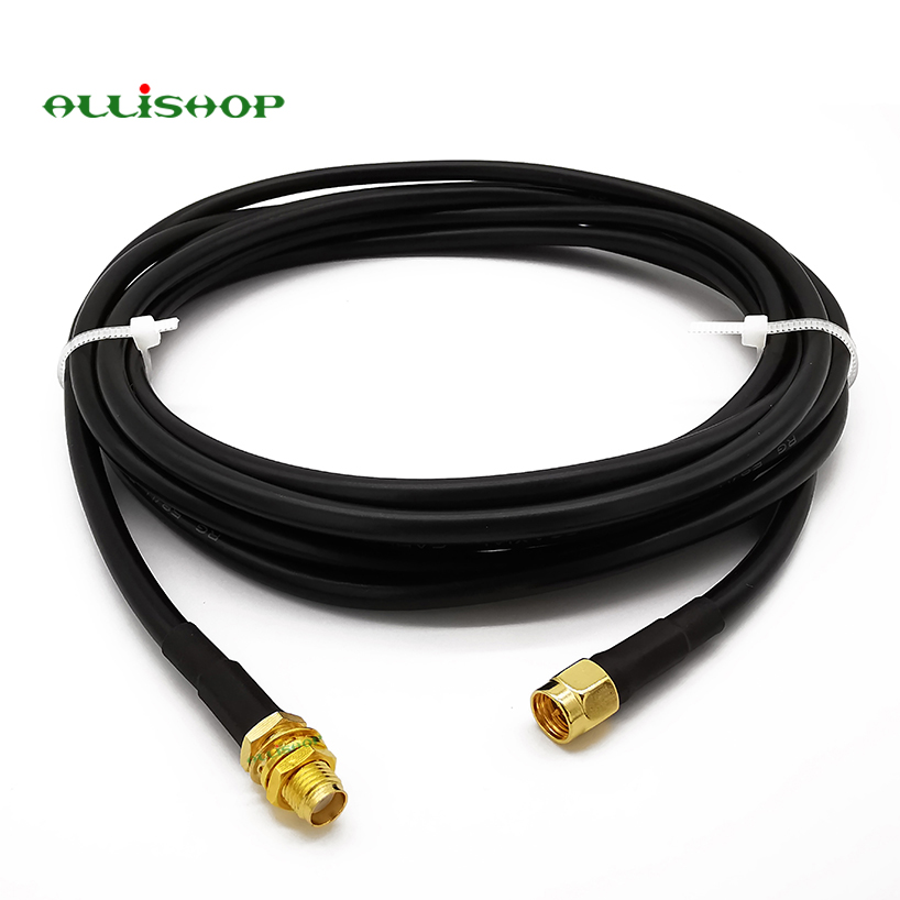 SMA Connector SMA Male To SMA Female  Extension Wifi RG58 Cable Plug To Jack Antenna Cable Coaxial Cable 1M 3M 5M 8M 10M 12M 15M