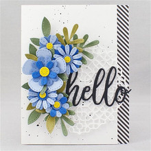 YaMinSanNiO Flower Metal Cutting Dies 2019 New Scrapbooking Craft Card Ablum Background Die 1Pc/lot 66*66MM