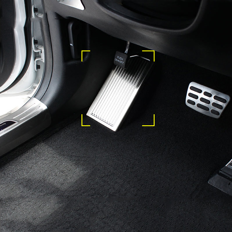 1pcs Stainless Steel Left Foot Rest Pedal Trim internal Decoration Sequins For Kia Sportage 4 QL 2016 2017 2018 Car Styling
