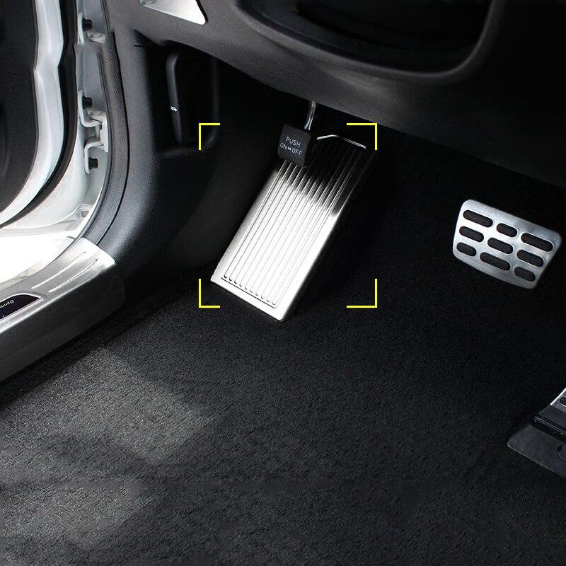 Edelstahl Auto Links Fuß Rest Pedal Platte Abdeckung Nicht-Slip Pad Schutz Trim Für Kia Sportage 4 QL 2016 2017 2018 zubehör