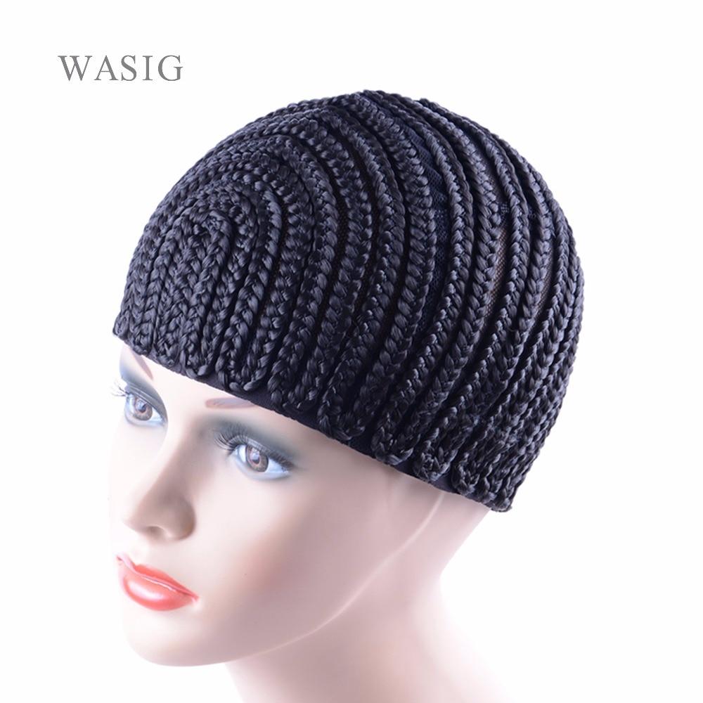Super Elastic Cornrow Cap For Weave Crochet Braid Wig Caps For Making Wigs Top Quality Weaving Braid Cap Wig Net Black Color 1PC