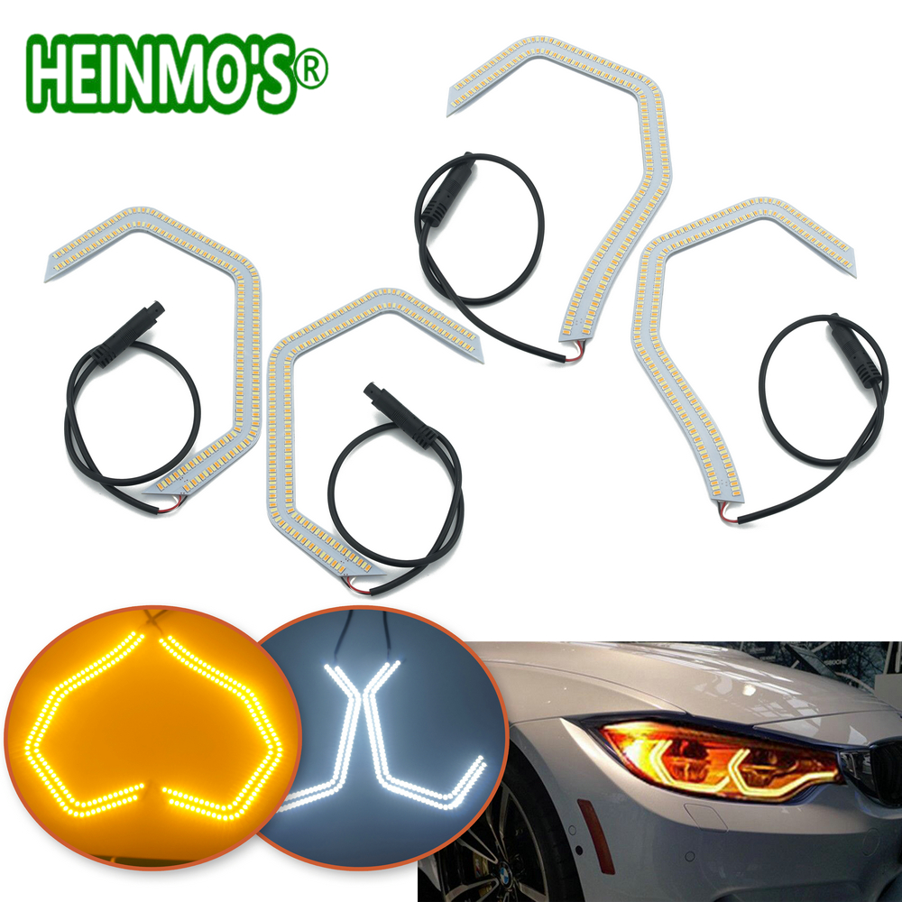 For 2 3 4 5 Series M3 M4 SMD LED Angel Eyes Halos Ring F30 F32 335i F82 F80 M3 M4 M5 E90 E92 LED DRL Turn Signal Lights