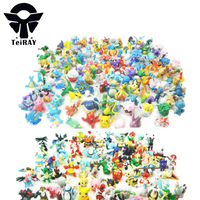 Pikachu Dinosaur Juguetes 144Pcs Set Bandai Pocket Monster Pvc Action Figure Manga Anime Animals Model Kids
