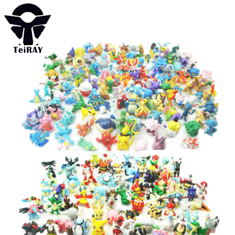 Kawaii Pikachu Dinosaurs Action Figures Toy 144Pcs Set Pvc Anime Animals Collection Figurine Kids Hot Toys for Boys Gift Opp Bag cartoon pikachu waza museum ver cute gk shock 10cm pikachu pvc action figures toys go pikachu model doll kids birthday gift
