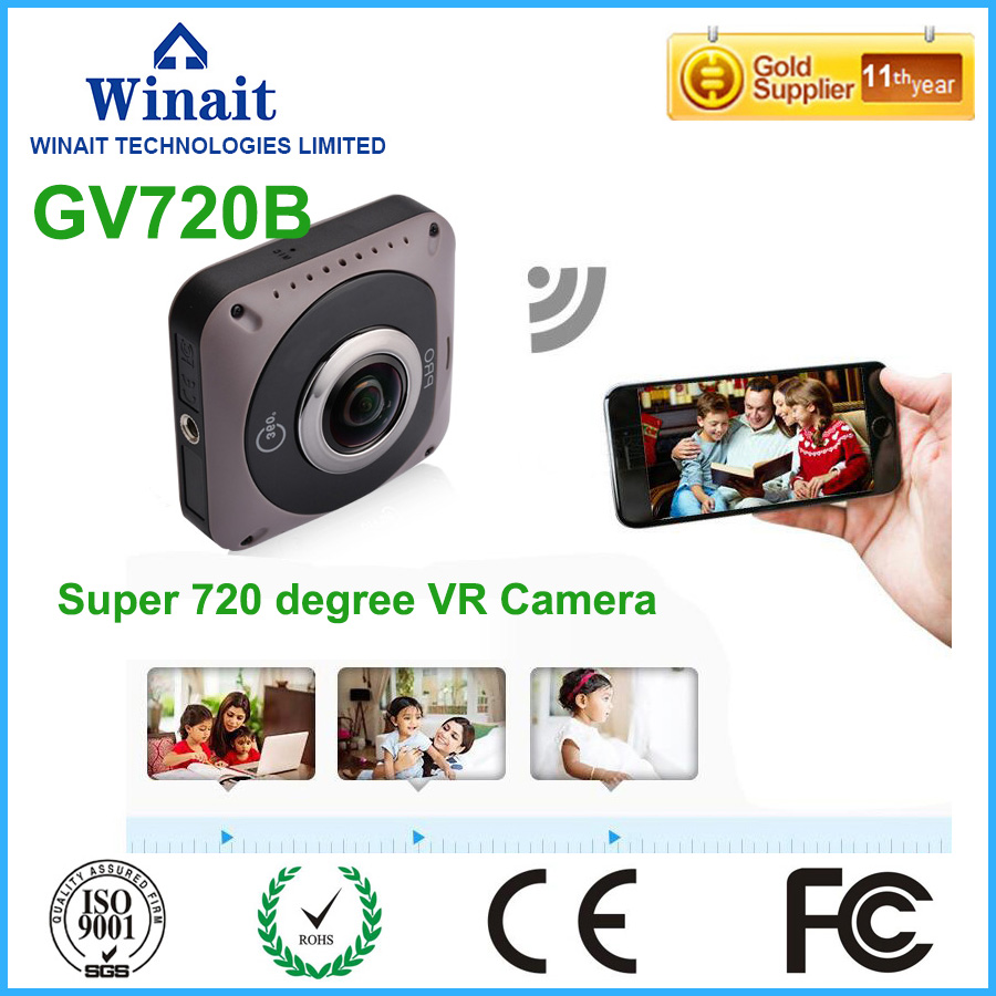720 full panaroma 360 font b VR b font wifi action camera with two 220 degree