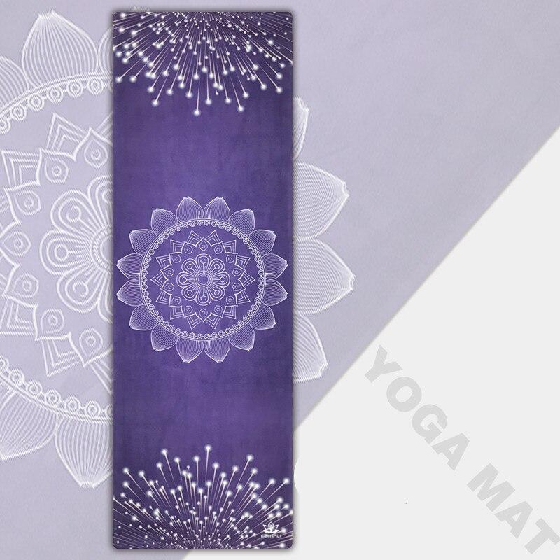 Tapis de Yoga Lotus bleu caoutchouc naturel 183*61 cm * 3.5mm tapis de Yoga exercice antidérapant tapis d'exercice de Fitness pour tapis de gymnastique Pilates Tapete