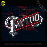Venta Tatuaje de neón signos personalizados hechos a mano de vidrio Real neón signos cerveza Bar luz