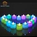 Recién Moderna Vela Colorida de la Seta Lámpara de Luz Nocturna de La Batería Hogar de Lámpara Preciosa para amar en La Decoración Navideña