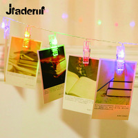 Jiaderui Holiday Lighting 3M 30LEDs Card Photo Wall Clip LED Fairy String Lamp Home DIY Christmas