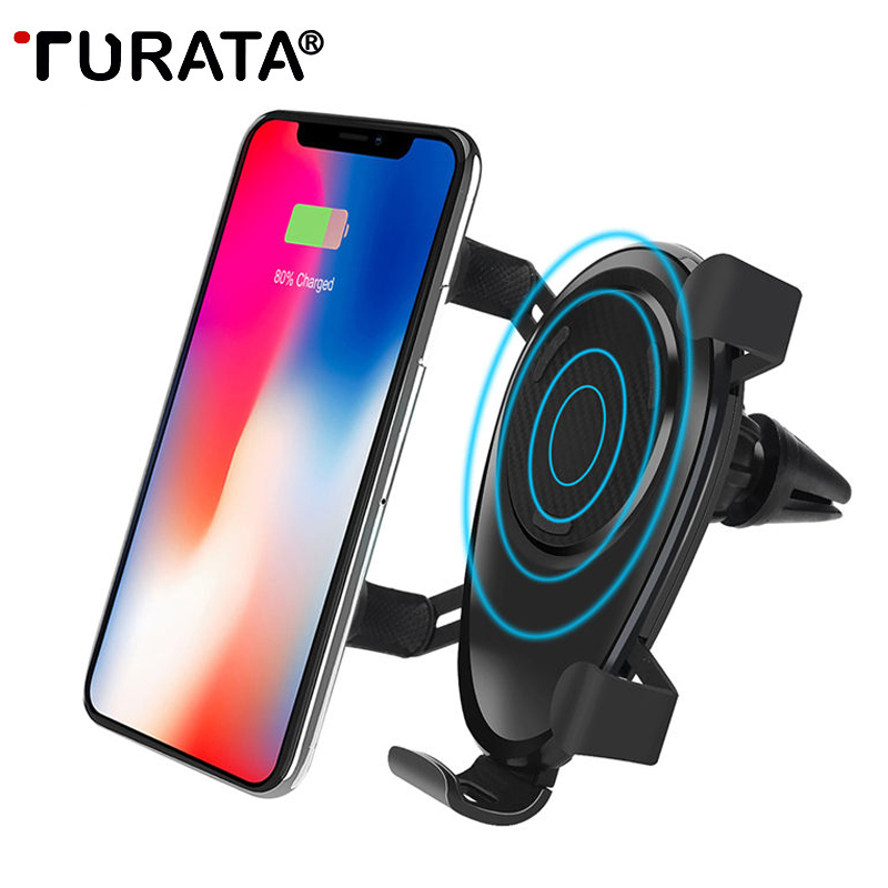 TURATA QI Wireless Charger Fast Desktop Mobile Phone Charger 5W 7.5W 10W Fast Charging Pad For iPhone X For Samsung S9 S8