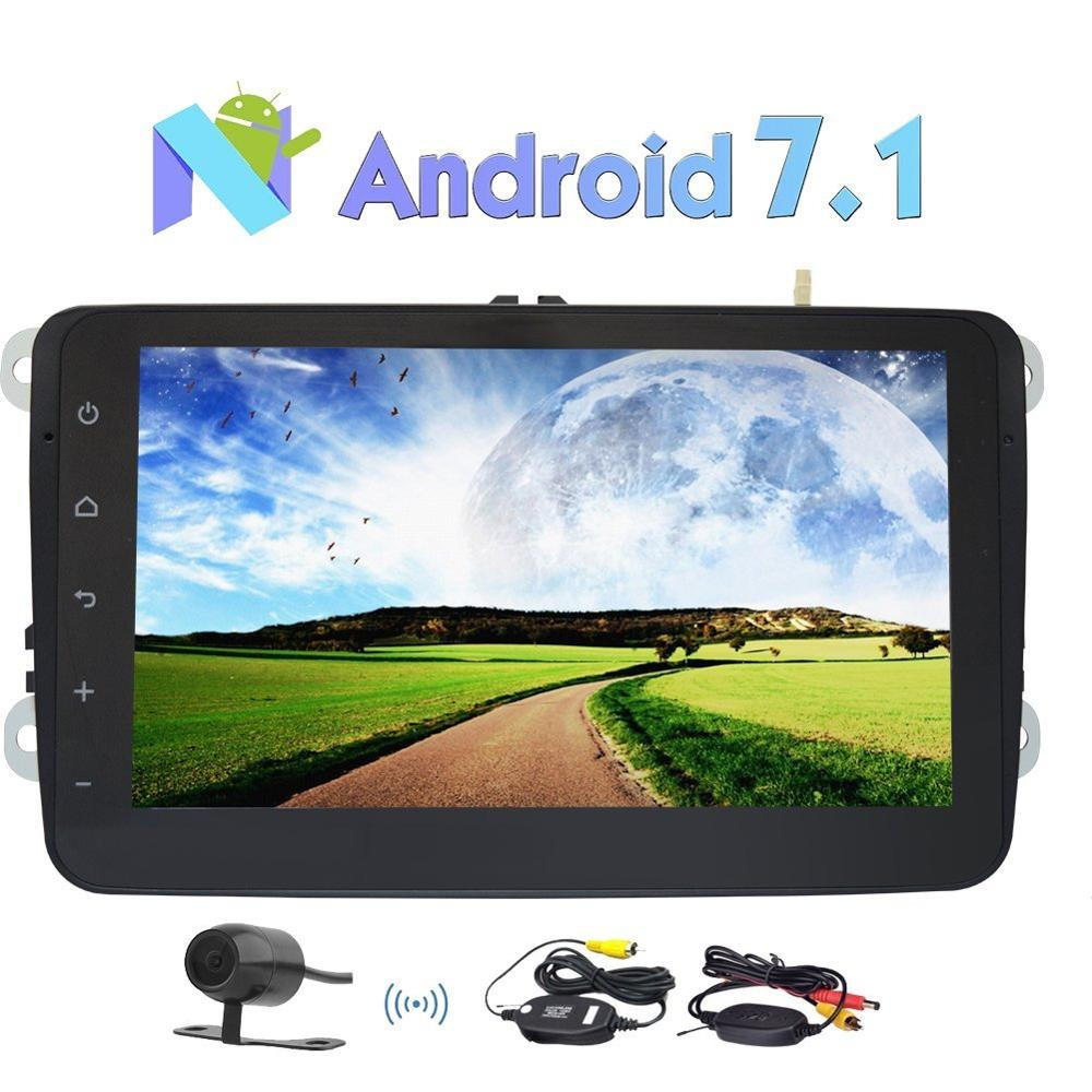 Android 7 1 GPS Navigation Car Stereo 2 Din 8 Head Unit for Volkswagen Support GPS