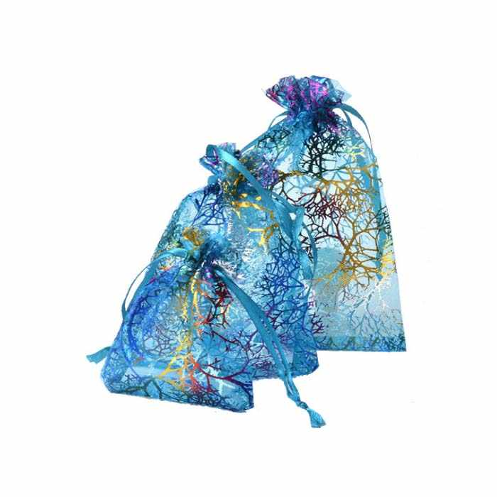Organza Candy Box Bags for Guests Jewelry Pouch Wedding Favors Gifts birthday Party Supplies craft DIY baby showers colorful Wh