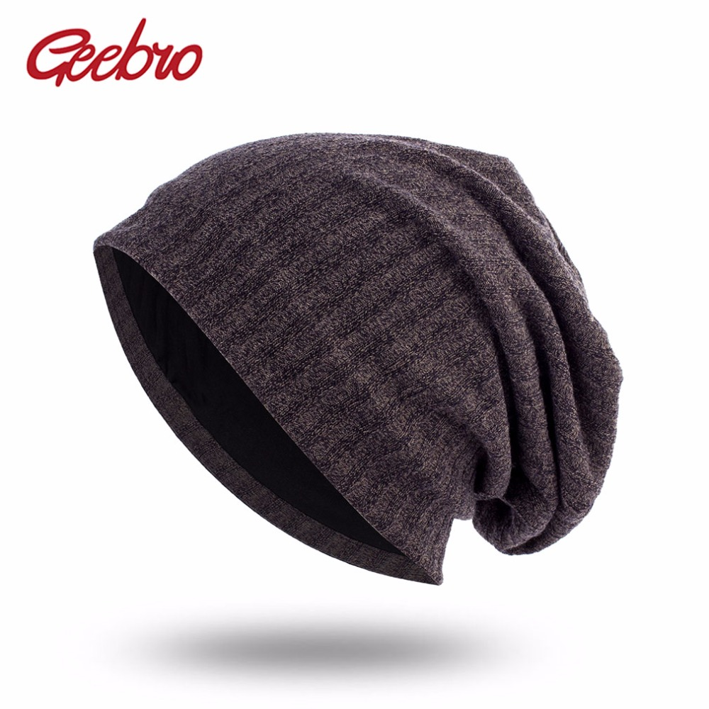 Geebro Women's Plain Color Ribbed Beanie Hat Spring Casual Knitted Hats For Female Women's Hat Cap Skullies Beanie Hats DQ403B