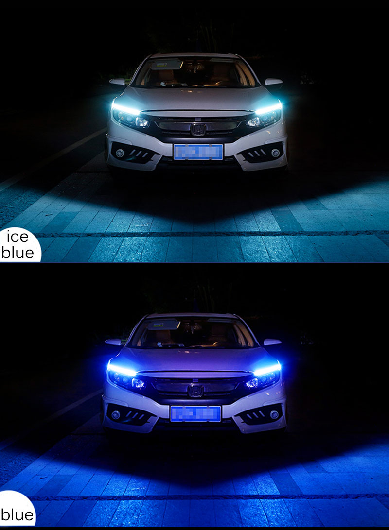 Car Day Light Led DRL Strip Lamp Headlight Daytime Running Lights Flowing (8)