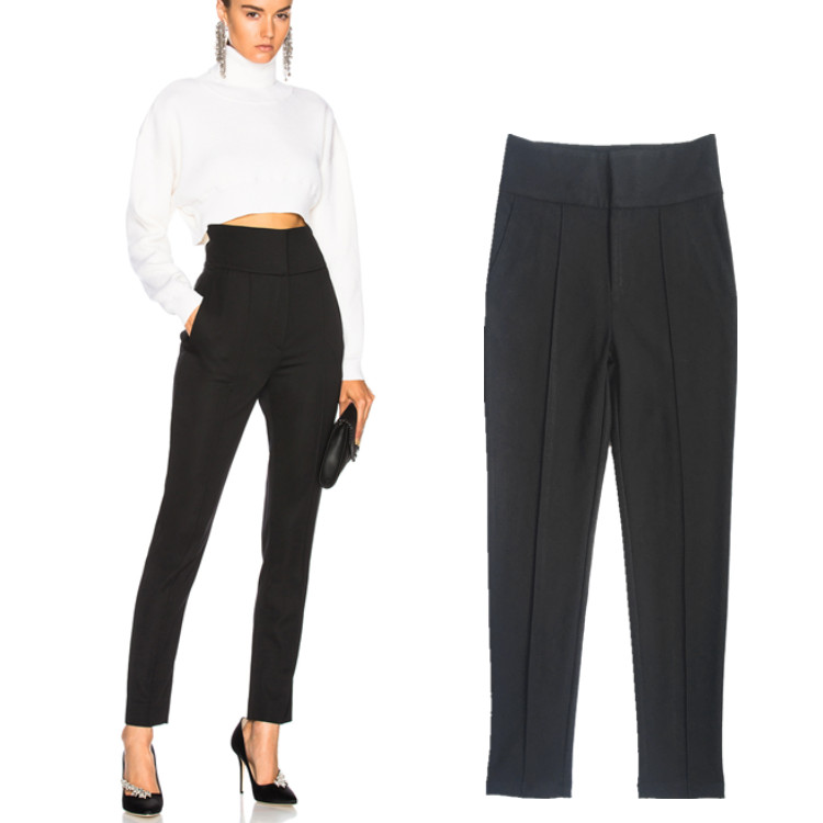Longer Size Can fit 160cm -180cm height slim pants 2018 new Fashion brand England style elastic was thin pencil trousers WQ11