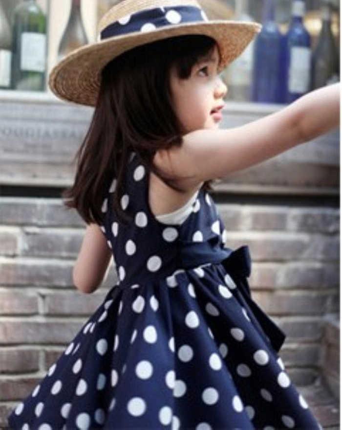 Bayi Perempuan Anak Perempuan Gaun Dot Busur Pesta Pernikahan Putri Anak-anak Balita Pakaian Musim Panas Gaun Ulang Tahun Pakaian Vestidos VERANO BEBE