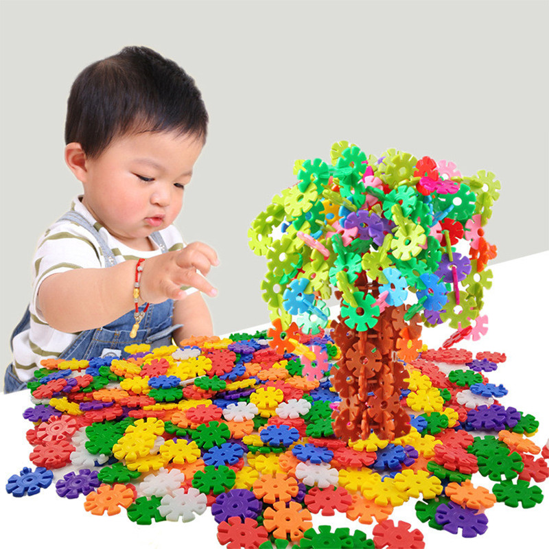 Enlightenment toys for children 39 s early education color environmental protection snowflake Building Blocks assembly toys in Blocks from Toys amp Hobbies