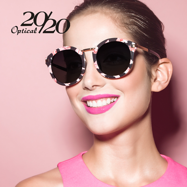 20/20 Brand Classic Luxury Polarized Sunglasses Women Flower Vintage Girls Oculos De Sol Brand Designer Women Sun Glasses 7010
