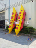 3 8 Person Inflatable Towable Water Sports, Inflatable Single Tube Banana Boat