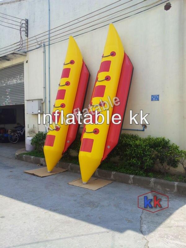 Sports nautiques remorquables gonflables de 3-8 personnes, bateau gonflable de banane de Tube simple