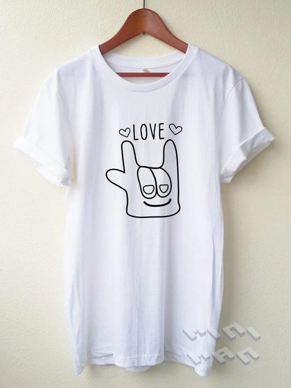 Mao Amor Camiseta Dos Desenhos Animados Unisex Camisa Estilo Minimo Tumblr Pinterest C614 Tumblr Style Love T Shirtt Shirt Cartoon Aliexpress