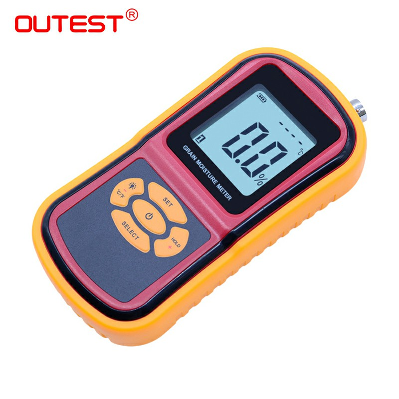 GM640 Portable Digital Grain Moisture Meter with Measuring Probe LCD Display Tester for Corn Wheat Rice Bean Wheat Hygrometer 4 8 days arrival lb92t portable sweetness tester brix meter with measuring range 58 92