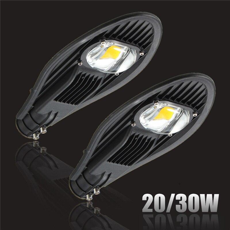 Mising 20W 30W Flood Outdoor Lighting Road LED Street Light Industrial Lamp Garden Yard Light Pure Warm White DC12V