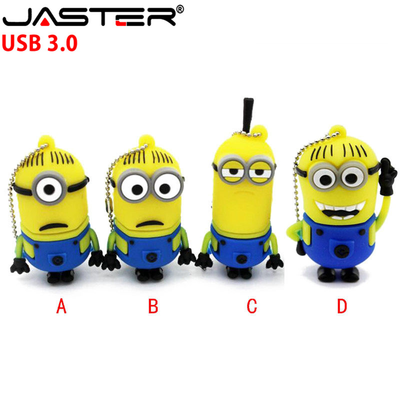 JASTER  3.0 Despicable Me Cartoon Minions USB 3.0 Flash Drive 4G 8G 16G U Disk Pendrive/Memory Stick/Disk/pen Drive/Gift
