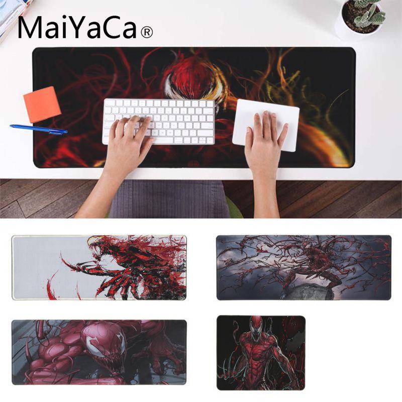 MaiYaCa Custom Skin Marvel Comics Carnage Gaming Mousemats Pad To Mouse Notbook Computer Gaming Mouse Pad Keyboard Mouse Mats