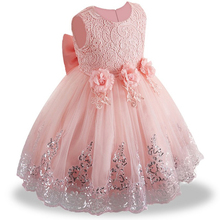 Kids White Bridesmaid Wedding Flower Girls Dress Party Dresses Girls Princess Dress Children Teen Clothing for 3 5 7 9 12 Years цена