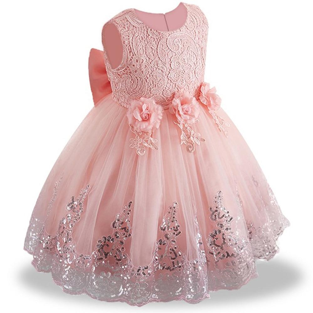 Kids White Bridesmaid Wedding Flower Girls Dress Party Dresses Girls Princess Dress Children Teen Clothing for 3 5 7 9 12 Years