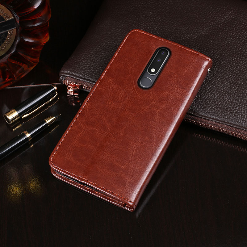 For Nokia 3.1 Plus Case Business Stand Flip Wallet Leather Phone Capa Case For Nokia 3.1 Plus Cover Coque Accessories
