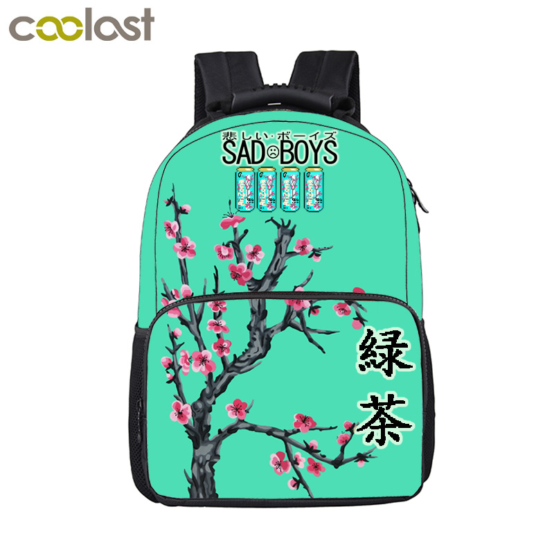 Sad Boys / Green Tea Backpack For Teenage Boys Girls Children School Bags Sadboys Travel Bags Men Women Hip Hop Backpack Bag 16 inch anime game of thrones backpack for teenagers boys girls school bags women men travel bag children school backpacks gift