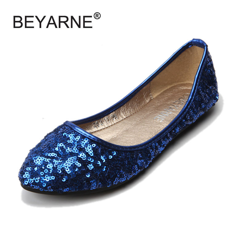 Fashion Sequined Cloth  Pointed Toe Women Flats Luxurious Glitter Shallow Mouth Slip-on Ballet Flats For Women Ladies Ballerinas fashion metallic pu pointed toe women flats concise shallow mouth slip on flats for women ladies casual flat ballerinas shoes