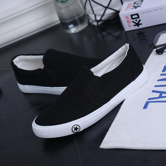 Hommes Printemps Pour Casual Toile Respirant Slip Appartements on Black Chaussures Zapatos Été Classique Vulcanisé Blanc blanc xxq70rUEw