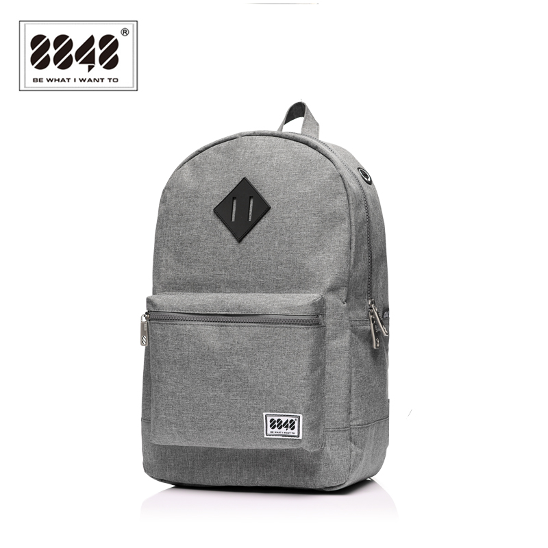 8848 Brand Men Backpack Preppy Style Pattern School Backpack Bag For Teenager  Student Casual Gray 15.6 Inch Laptop S15010-10